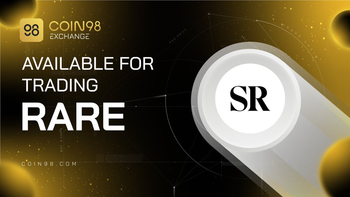 $RARE is now available for trading on Coin98 Exchange 📖 @SuperRare is an NFT marketplace to collect and trade unique, single-edition digital artworks. 💰Trading pair: $RARE/ $WETH (on @sushiswap & @Uniswap) 🚀Trading now: exchange.coin98.com/uniswap/0xba5B…