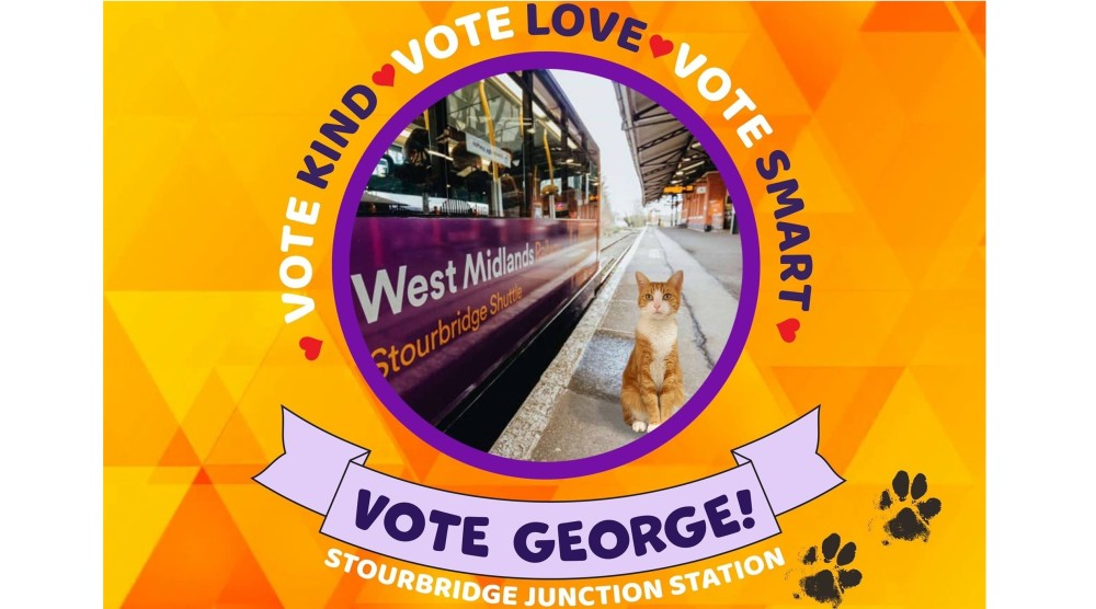 It's back! The @RailDeliveryGrp #WorldCupOfStations public vote returns this week and @WestMidRailway station #StourbridgeJunction is again among the favourites thanks to popular station cat George @TheStourbridge @SbridgeShuttle https://t.co/TGsqFUrVZI https://t.co/wq19JWEqgH