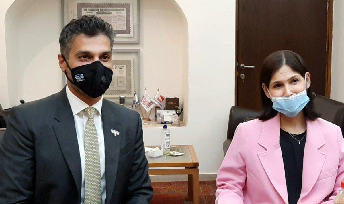 كان الحوار إيجابياً ومثمراً مع وزيرة الطاقة في إسرائيل @Kelharrar من خلال مناقشة مواضيع…