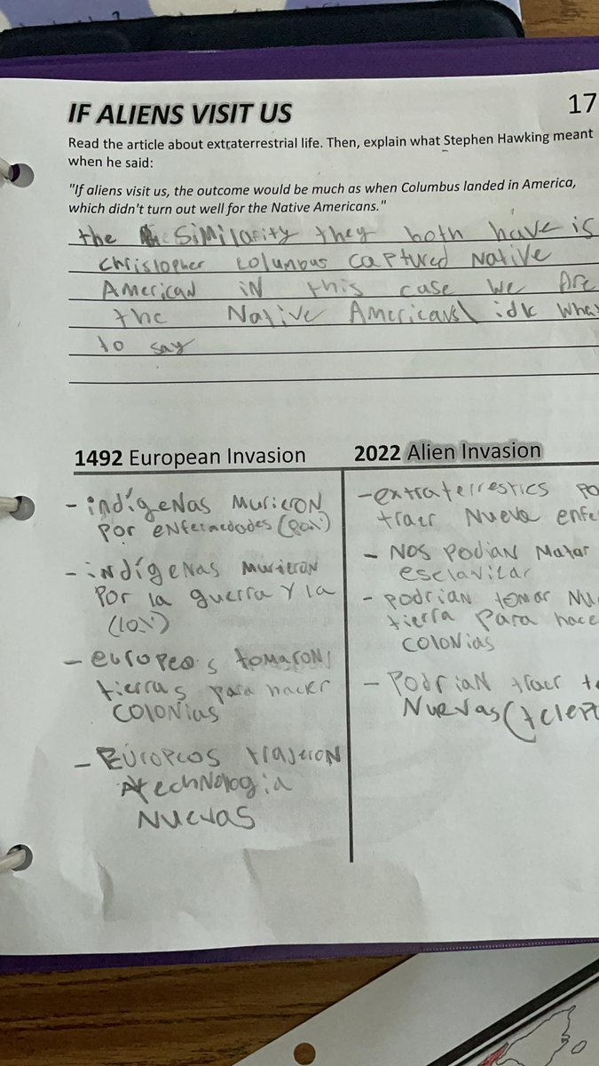 Map of European exploration in Mr. Gilmore's 6th grade immersion history class. Students compared the invasion of America during the period of European exploration with a possible Alien invasion of Earth. <a target='_blank' href='http://twitter.com/APSGifted'>@APSGifted</a> <a target='_blank' href='http://twitter.com/GiftedGMS'>@GiftedGMS</a> <a target='_blank' href='https://t.co/Hc724fe2DU'>https://t.co/Hc724fe2DU</a>