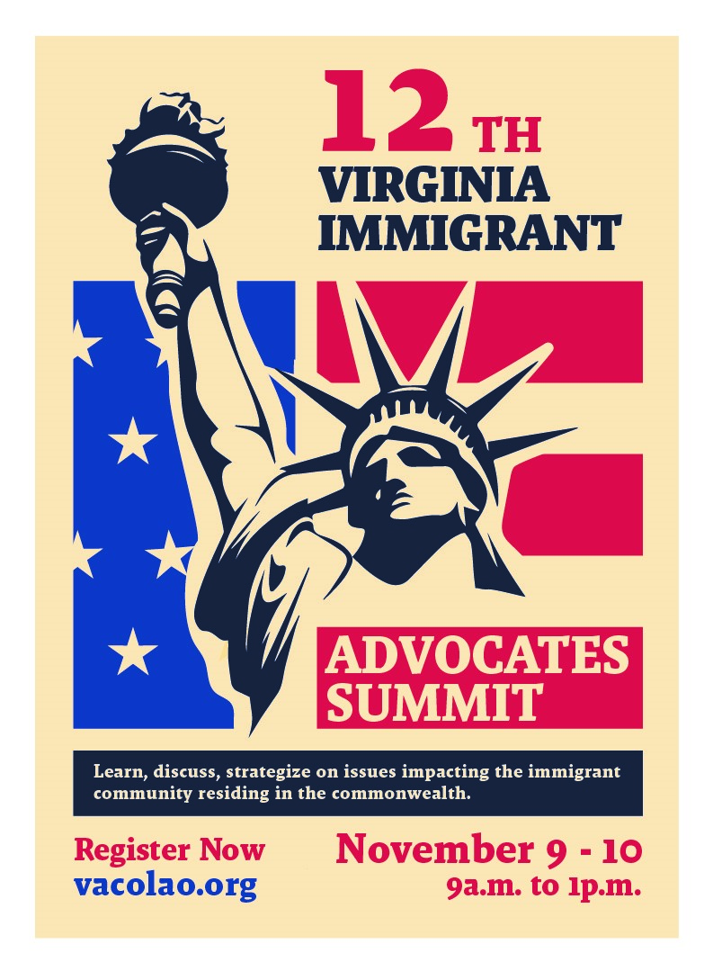 Registration for the 12th annual VA Immigrant Advocates Summit is now open! You can register here: https://t.co/k5bw78EgGc