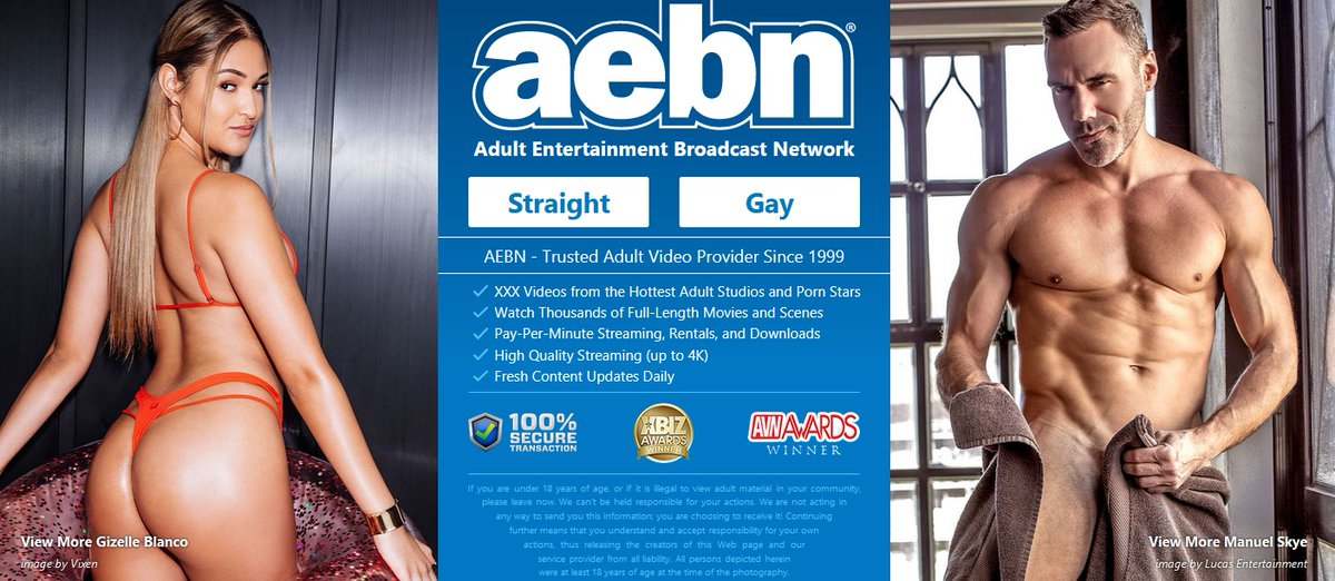 CONGRATS To Our NEW AEBN.NET Splash Page Stars For This Week-- GIZELLE BLANCO & MANUEL SKYE ! @xogizellexo @ManuelSkyexxx