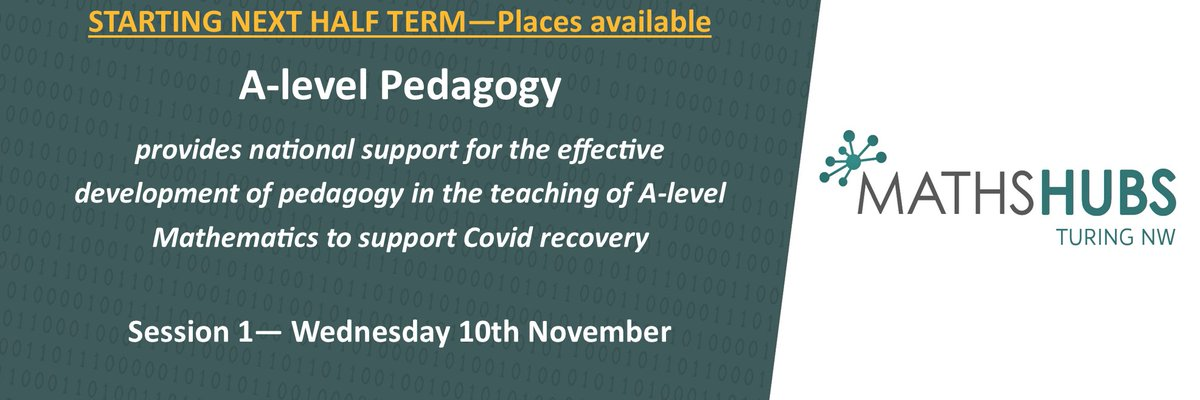 📢 Don't miss out on our A-level Pedagogy Work Group - session 1 begins Wednesday 10th November  For more information and to book visit our website here:-  https://t.co/mKU6H2QWxl  @NCETM @MathsHubs