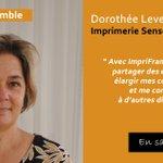 Image for the Tweet beginning: Dorothée Leveaux, IMP. SENSEY explique