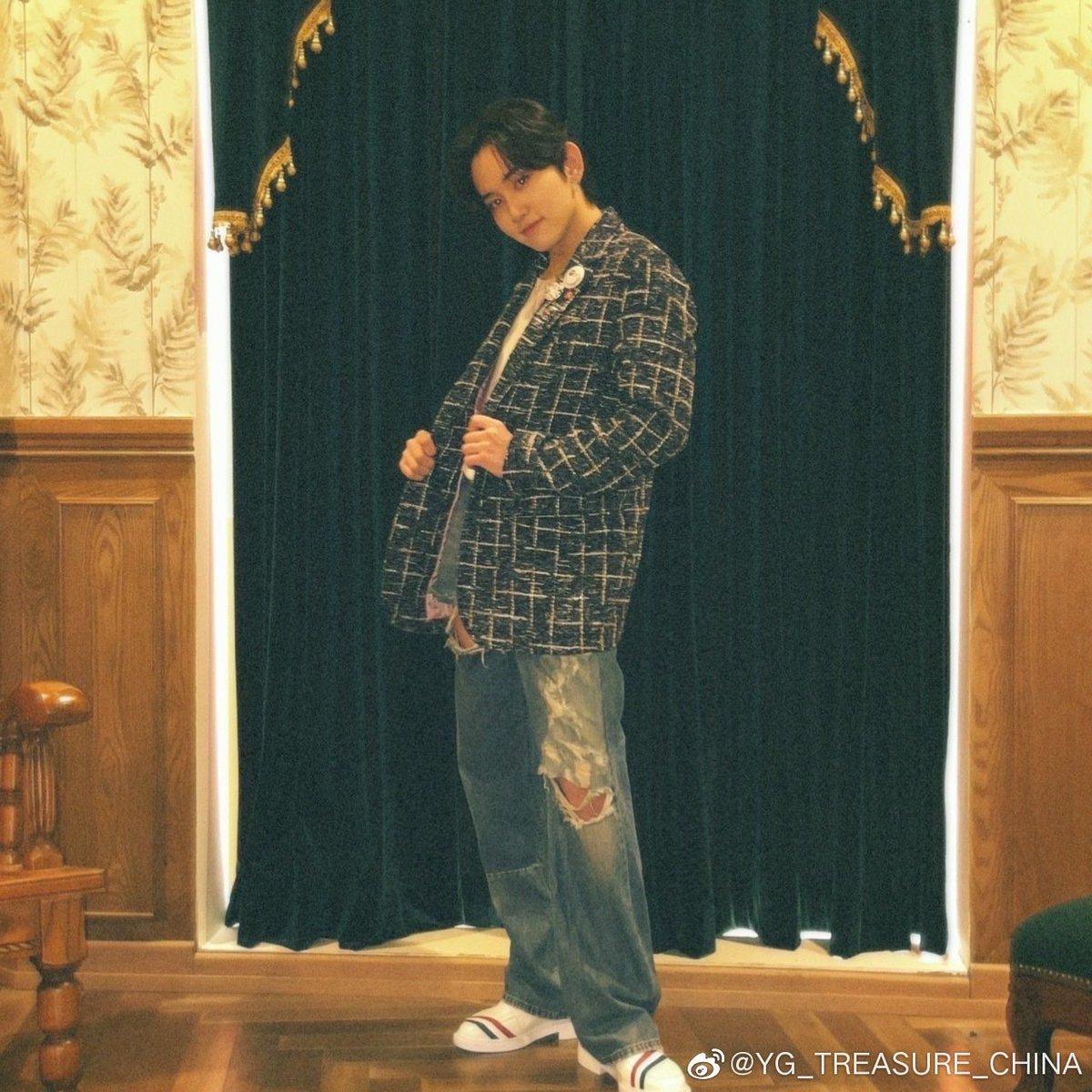 211018 YG_TREASURE_CHINA weibo update  各位今天也辛苦了! 剩下的一周也要加油✨ 晚安🍀  #高田真史帆 #MASHIHO #マシホ...