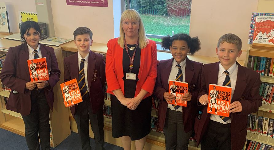 Today, Mrs Berry had the pleasure of gifting our Year 7 Students with Marcus Rashford's 'You are a Champion-how to be the best you can be'. The whole year group are looking forward to being inspired by this wonderful book @MarcusRashford