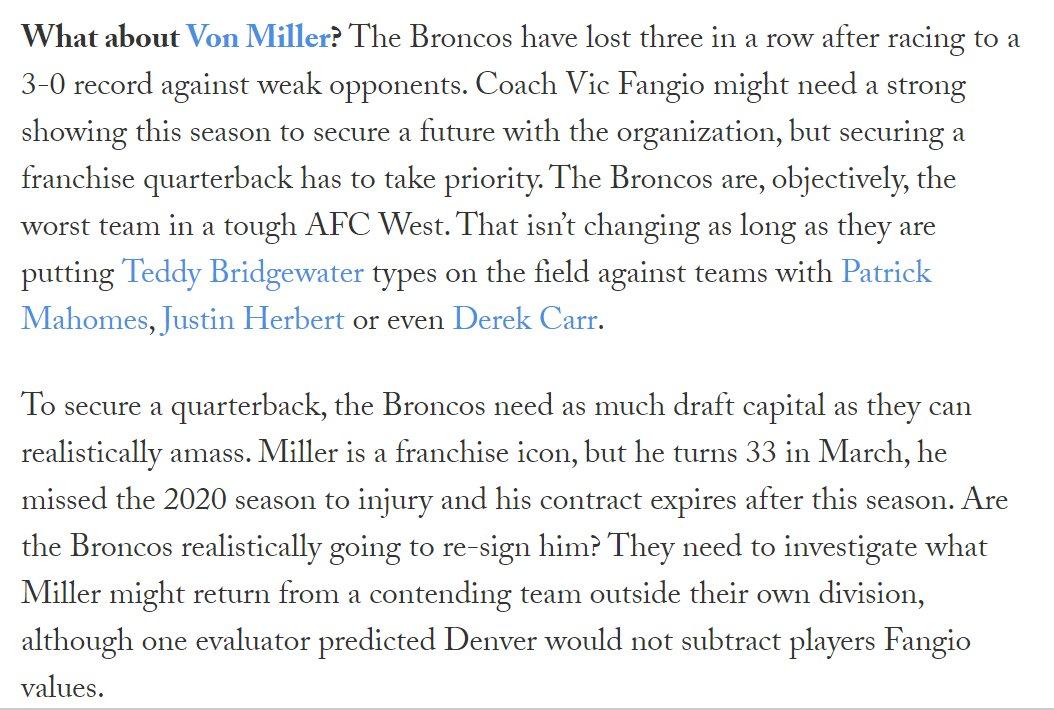 RT @JoRo_NFL: Should the Broncos trade Von Miller?   https://t.co/bNNAnMnNcy https://t.co/IA4XcV1pBH