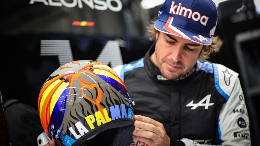 Fernando Alonso desvela un casco especial en homenaje a La Palma - https://t.co/SFB5hvpXw3 https://t.co/pC180qTNjf