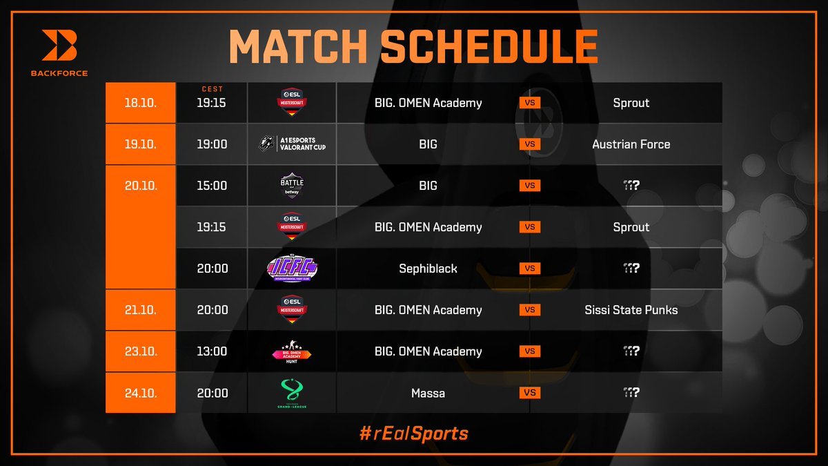 ᵂᴱᴿᴮᵁᴺᴳ⠀ Here's all the BIG action for the week, brought to you by @Backforce_gg! 📅 #rEalSports