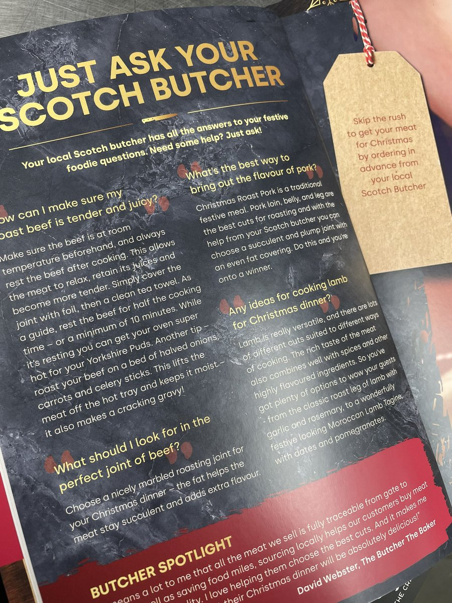 Pick up your free copy from our shop or one of the many local High Street @scotchbutchers @MakeitScotch