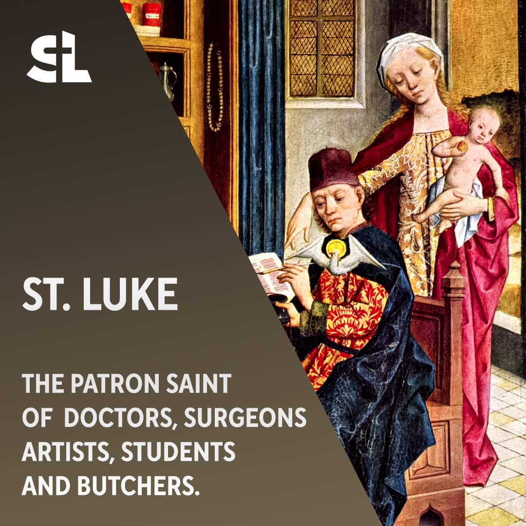 It's a special day for everyone at St. Luke School. St Luke is patron of students. St. Luke, pray for us! #SaintOfTheDay
