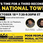 Image for the Tweet beginning: TONIGHT: #PoorPeoplesCampaign Nat'l Town Hall