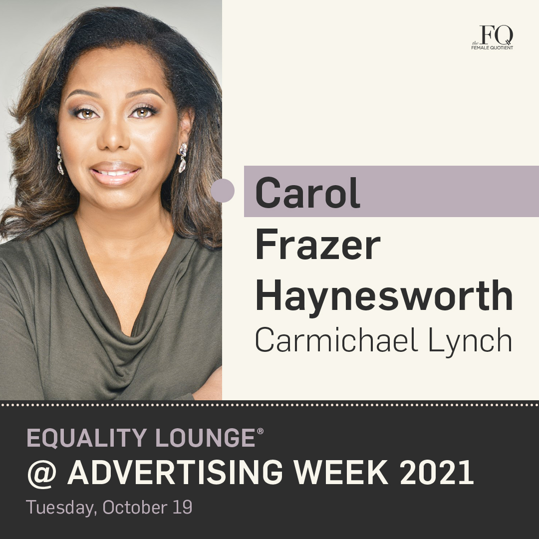 How can the advertising industry continue to be a force for good? Our head of DEI @CarolFrazer takes the stage with @femalequotient's Equality Lounge at #AWNewYork to discuss moving the industry forward around equity and inclusion. RSVP here: https://t.co/C5lsjh5hDZ