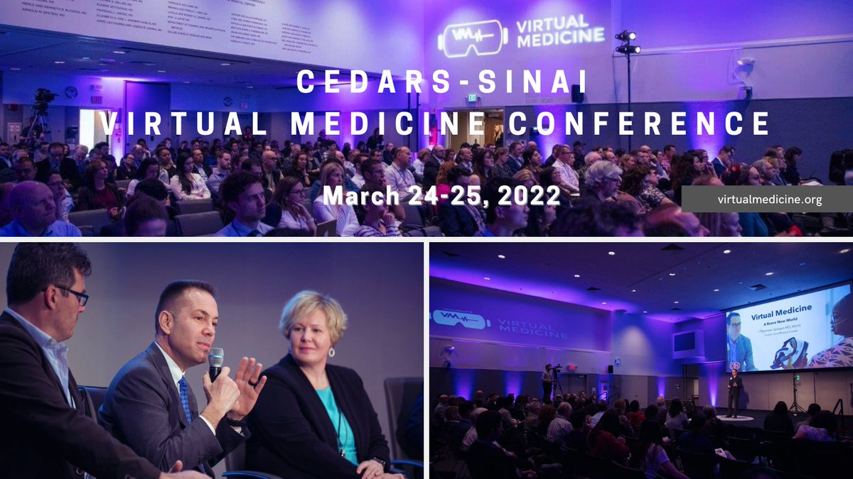 Each March at #CedarsSinai we host the world's top speakers in medical extended reality (#MXR) at the #vMed conference. There are a few remaining speaker spots for the March '22 conference. See below for info and apply by 10/31 to be considered for a position: