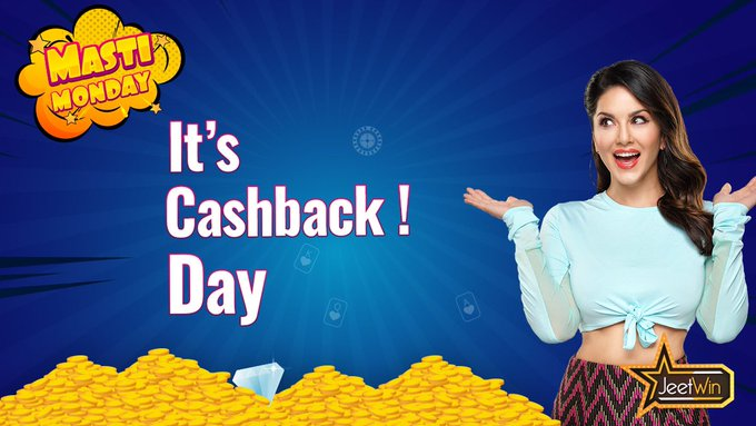 It's Monday & there is a reason to rejoice. Start your week by receiving cashback up to INR 10,00,000