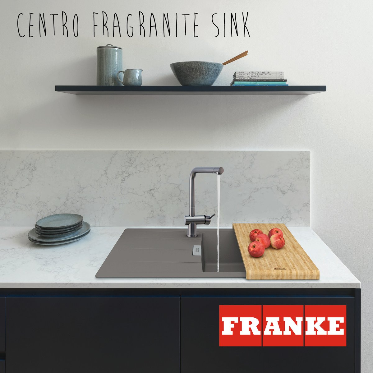 Our Centro Fragranite sink is a stylish and practical addition to kitchens large and small with its roomy single bowl and compact drainer. Available in subtle neutrals, chic greys and striking matt black, which colour will you choose? bit.ly/2NGLOP2