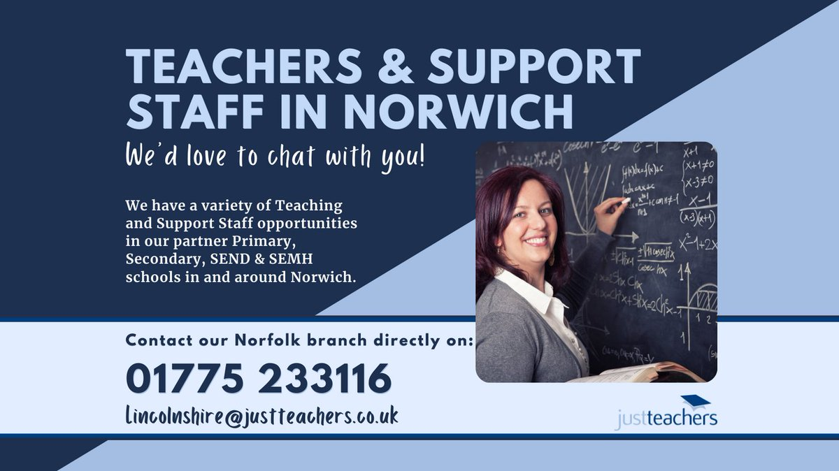 test Twitter Media - We have a number of Teaching and support staff opportunities in Primary, Secondary, SEND & SEMH schools around Norwich.  For more info visit https://t.co/7TEwhiWAfG or contact our Norfolk branch on 01775 233116.  #Teacher #TeachingAssistant #SEND #Norfolk #Norwich https://t.co/HvyoHn54hG