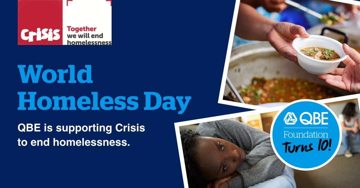 QBE supporting Crisis charity