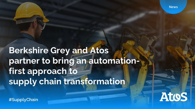 We are excited to announce our partnership with @BerkshireGrey, the leader in #AI enabled...
