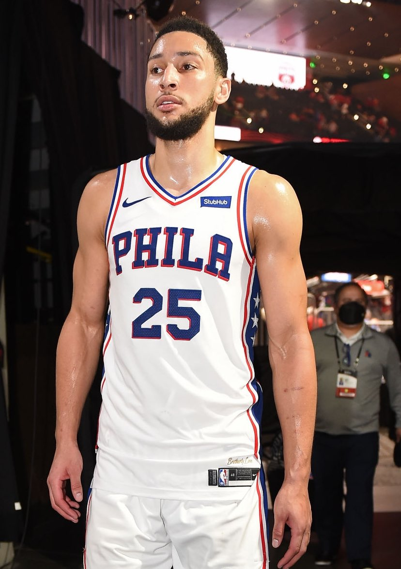 """""""Even if Simmons comes back to Philadelphia, a league source told The Inquirer recently that Simmons still doesn't intend to play a game.""""   - @PompeyOnSixers on Ben Simmons"""