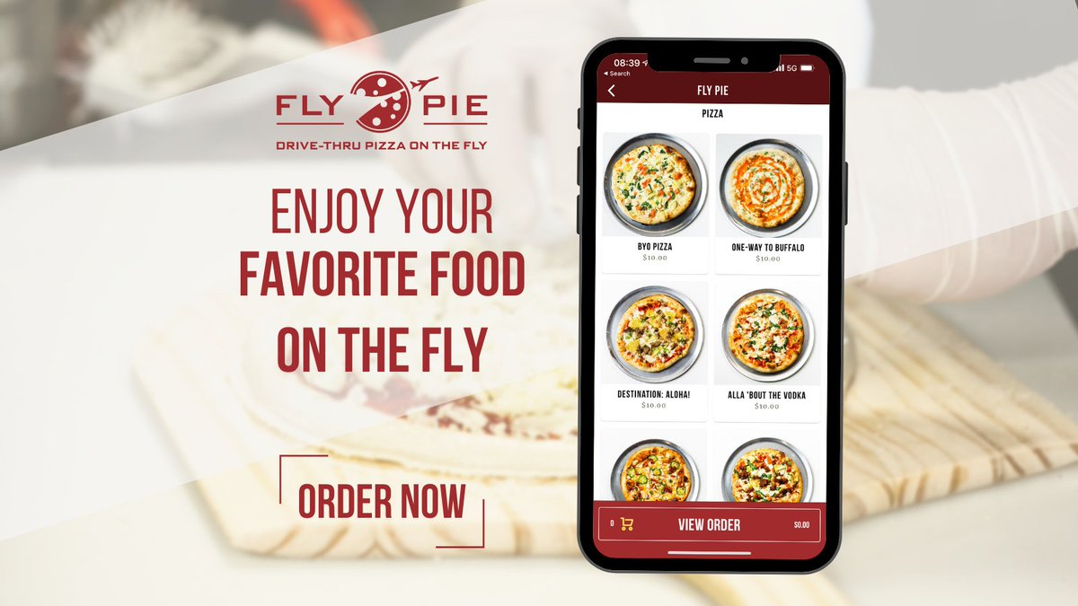 Order through our #flypiepizza app today and cut down the time it takes to enjoy your favorite food!  #flythetunnel #vegasfoodie #vegaspizza #drivethru  Order Now
