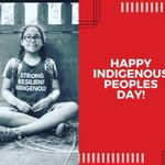 Image for the Tweet beginning: Happy Indigenous People's Day! Celebrate