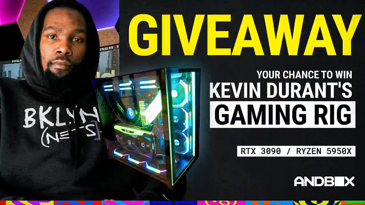 Here's your chance to win @KDTrey5's RTX 3090/Ryzen 5950x gaming PC. How to enter:  • Visit this link:  • RT this tweet  • Comment & tag a friend you'd dunk on   📅 Giveaway ends November 1st.