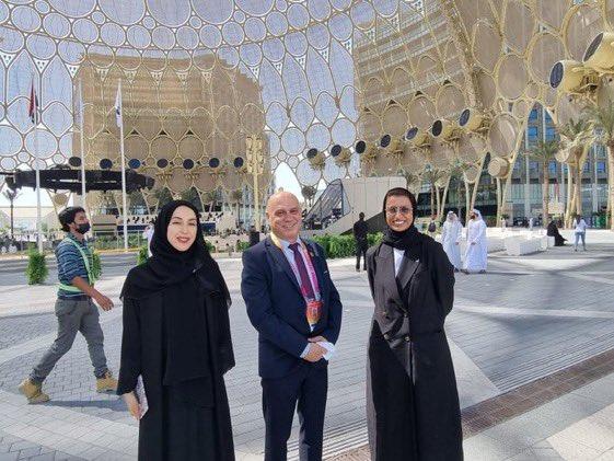 """وزير التعاون الاقليمي عيساوي فريج :""""التقيت اليوم وزيرتين ملهمتين@NouraAlKaabi"""