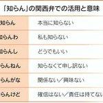 関西弁の『知らん』語尾が違うだけで意味がこれだけ違う!