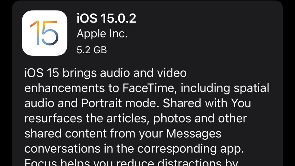 Apple Releases iOS 15.0.2: Surprise iPhone Update With Urgent Fixes