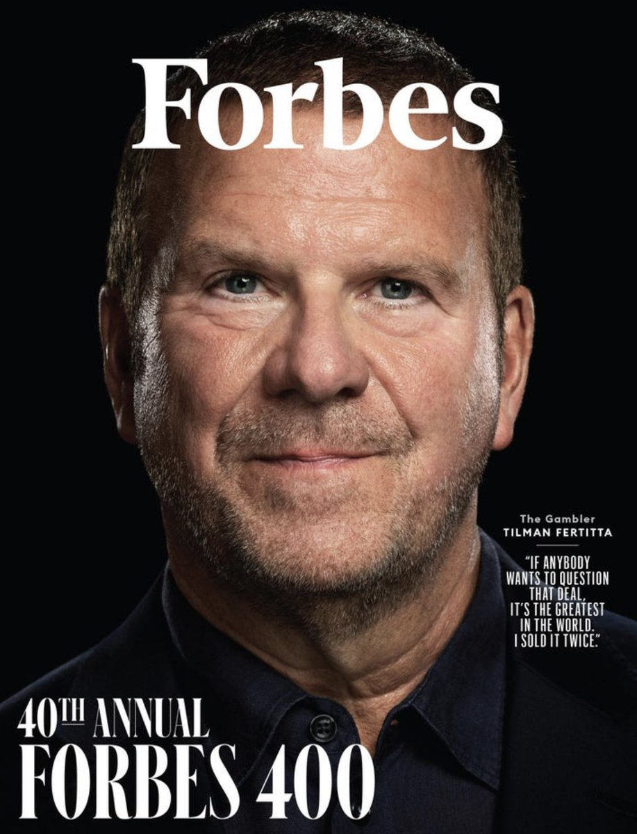 We are so proud of our founder and Chairman of the Board, @TilmanJFertitta. Congratulations!