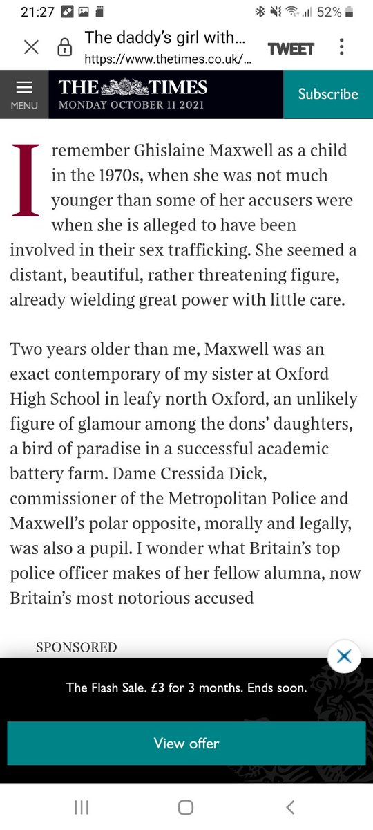 Wait - Cressida Dick was at school with Ghislaine Maxwell??
