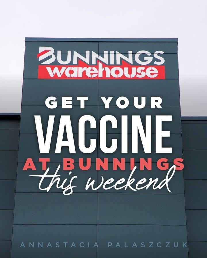周六昆州人买Bunnings香肠同时可打疫苗