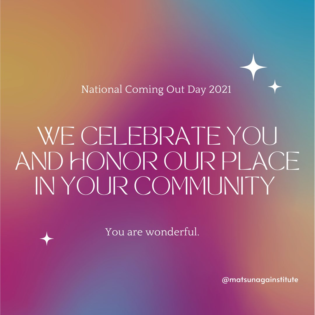 Image for the Tweet beginning: We celebrate and support you.
