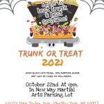 Image for the Tweet beginning: Annual Trunk or Treat! Email
