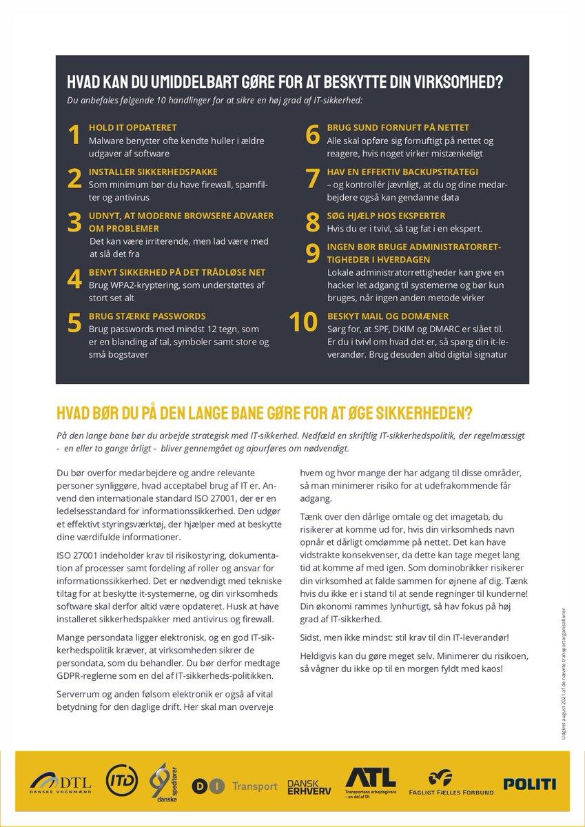 En utilstrækkelig IT-sikkerhed i din virksomhed kan få konsekvenser for både dine medarbejdere, din virksomhed, dine kunder og samarbejdspartnere. https://t.co/kjJ6m9uvs8  https://t.co/CtwWGPB2mI  #cybersikkerhedsmåned #politidk https://t.co/DkI5geIuA0