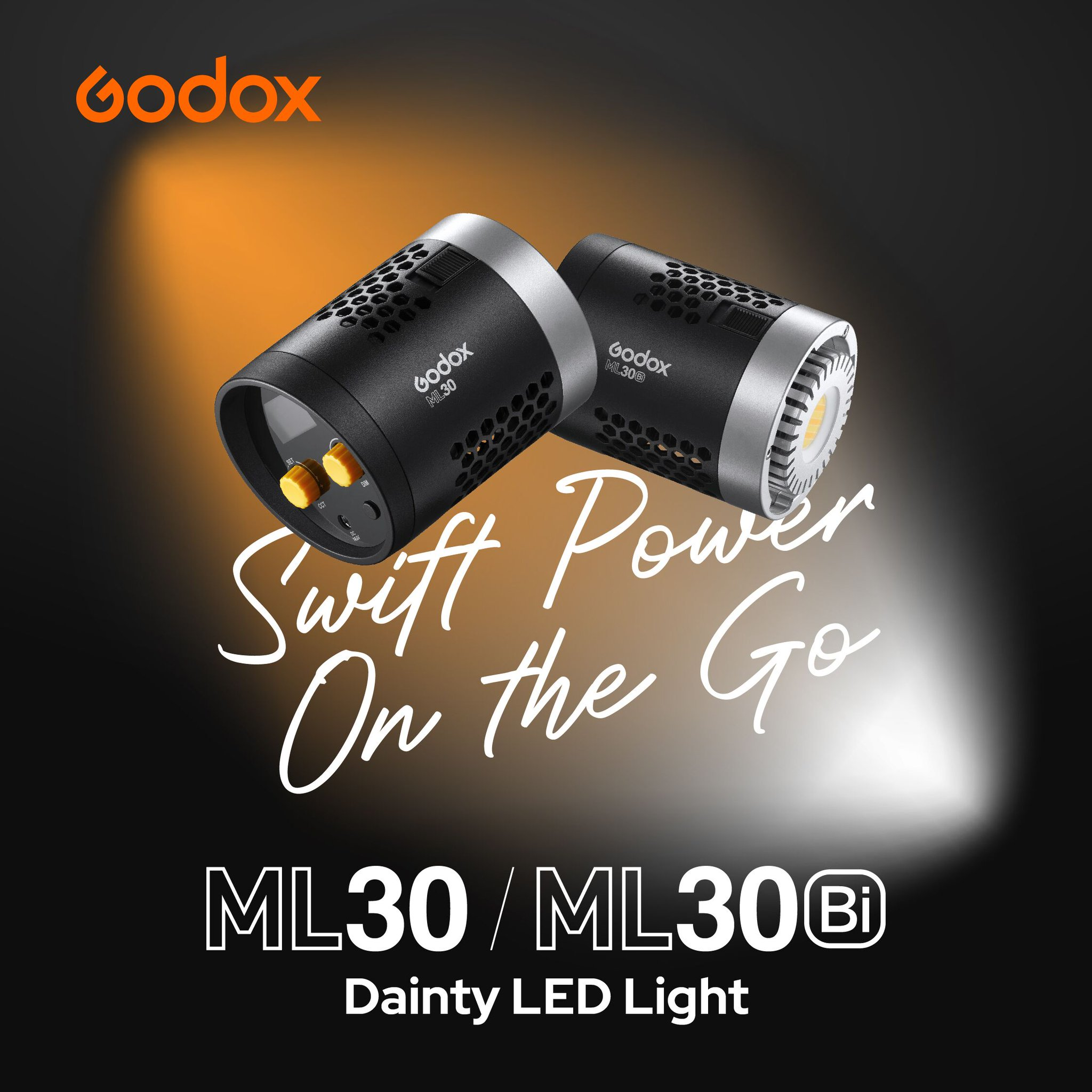 Swift Power on the go! Dainty LED Light #ML30 & #ML30Bi are the smallest COB lights in Godox lighting range, just like a portable flashlight on call at any minutes! Wherever you are, you can instantly use them to back up the lighting with minimal space taking🧡 https://t.co/VTy7F0rb52