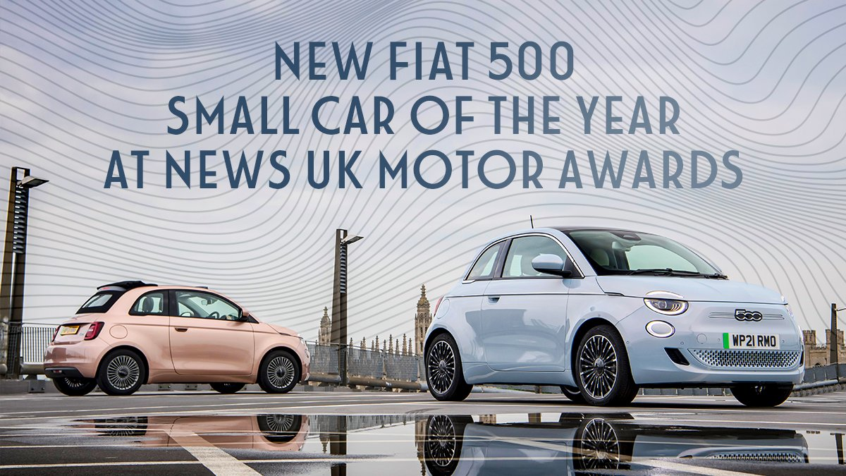 Our first fully-electric car has won the UK's heart with its Dolcevita style and its best-in-class features. An award voted for by the general public: the New 500 is not only the critics' choice but also the people's choice.  https://t.co/nr2pAhiYoR #New500 https://t.co/vxVKRIjSYy