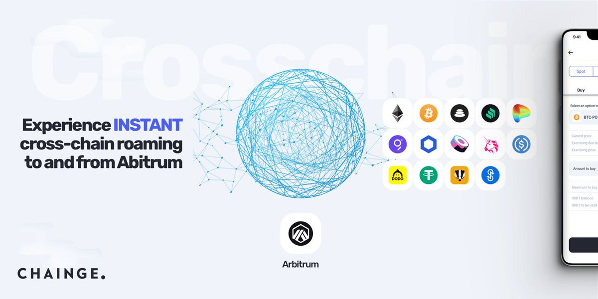 🔥 We're proud to announce we've included @arbitrum in the Chainge app! 💥 Any user can now roam their assets from any of our available chains to @arbitrum so say goodbye to expensive gas fees! 🚀 You can then move your assets back without waiting 7 days! #CROSSCHAIN #Arbitrum