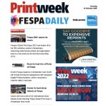 Image for the Tweet beginning: Our first Fespa Daily email