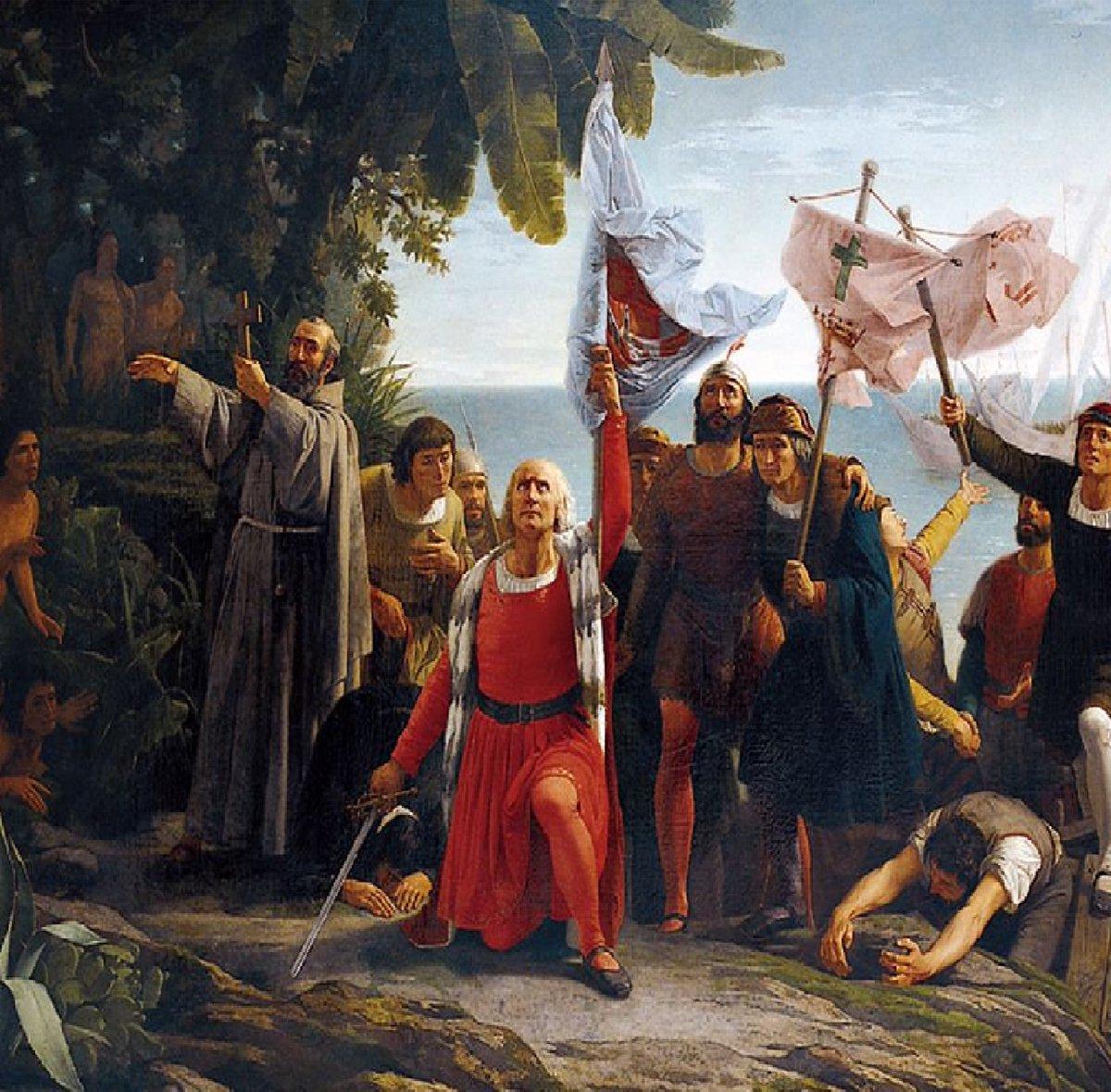 El 12 d octubre d 1492 llegó Colón con sus carabelas a la isla de Guanahani. Se inició así uno d los más sangrientos etnocidios d la historia humana. La gente digna recuerda la fecha como DIA DE LA RESISTENCIA INDÍGENA. Los fascistas españoles celebran el DÍA DE LA HISPANIDAD.