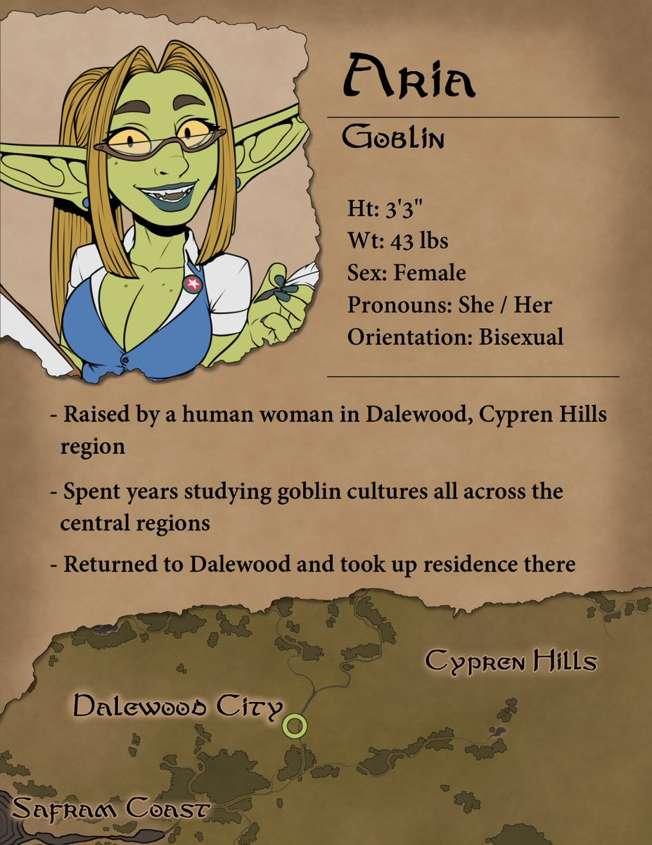 Aria profile! (Revised her height a bit)