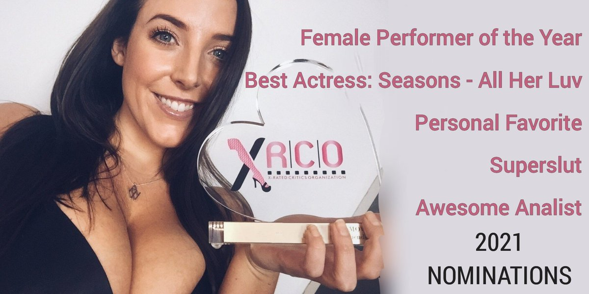 The 2021 @XRCOAwards are being held TONIGHT, 7pm PT (Oct 12, 2021). @ANGELAWHITE has been nominated for five 🏆🎭💖😈🍑