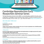 Image for the Tweet beginning: 📢Our Early Researchers Seminar Series