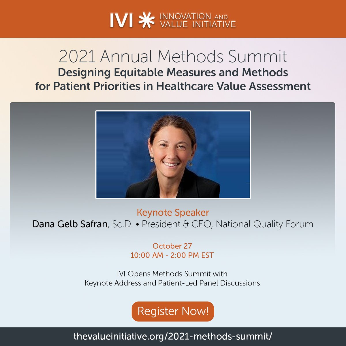 MHA's Senior Vice President of Behavioral Health Innovation, Nathaniel Counts, will be joining @IVI_health's Annual Methods Summit to speak about why the patient perspective is important when thinking about the value of depression treatments.