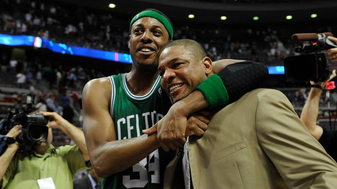 Happy Birthday to these two Celtics Legends!  Paul Pierce turns 44 today  Doc Rivers turns 60 today