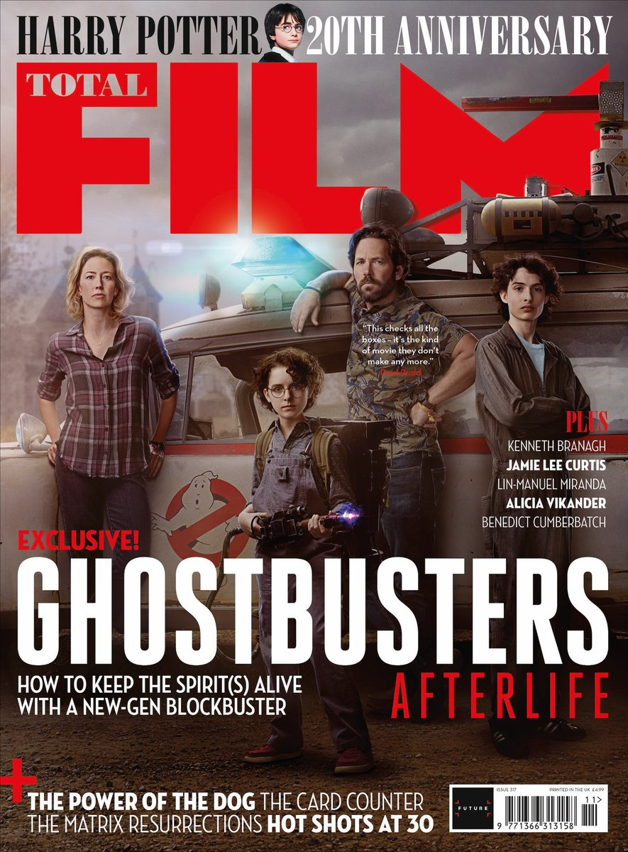 Ghostbusters: Afterlife newsstand cover for the new issue of @totalfilm, out Thursday! 👻