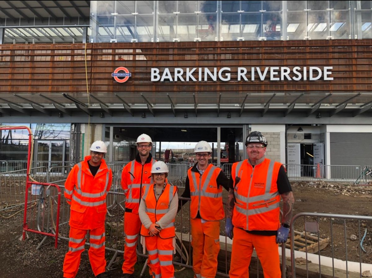 We were delighted to welcome MP @margarethodge to site on Friday 3rd Oct, showing her the progress made on the new Barking Riverside station. Forming part of the Gospel Oak to Barking Overground line, the station will open in 2022. barkingriverside.london/the-place/what…