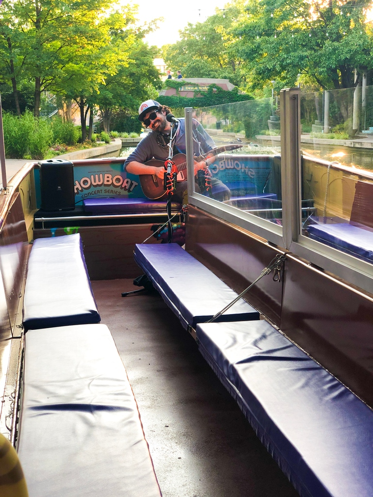 What's it like attending a #concert on a @watertaxi on the #BricktownCanal in #OKC? It goes a little something like this ... https://t.co/2GS0B5YSjk https://t.co/QFGiCac1n1