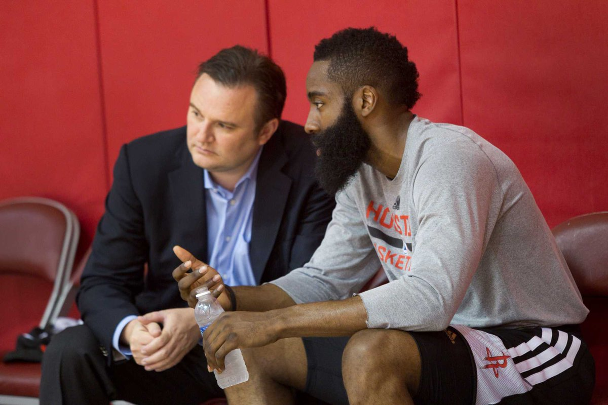 """According to @stephenasmith, Daryl Morey is monitoring Harden's situation in BK  """"Now you might lose James Harden because Daryl Morey is lurking in Philadelphia. Don't think for one second that Daryl Morey ain't trying to get his hands on James Harden.I'm telling you what I know"""""""